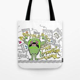 Doodle Monster Tote Bag