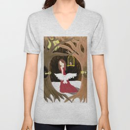The Old Woman in the Woods Unisex V-Neck