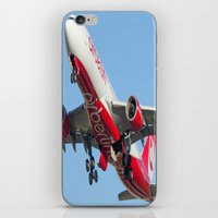airplanes iPhone & iPod Skins featuring Air Berlin Airbus A330-223 Take-off Miami airplanes USA D-ALPJ by Yan David
