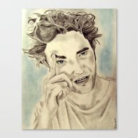 robert farkas Canvas Prints featuring Robert by Katerina Gold