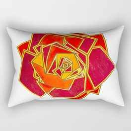 Geometric Rose Rectangular Pillow