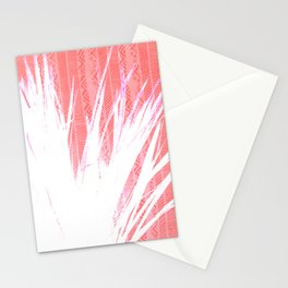 NL 15 Pink & White Tribal Grass Stationery Cards