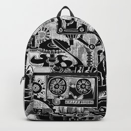 Hungry Gears (negative) Backpack