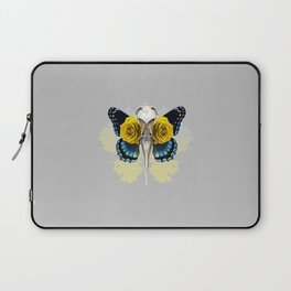 Bird skull and yellow roses Laptop Sleeve