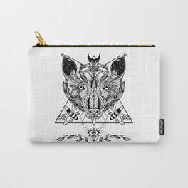 Serpent Tongue Wolf, Moth Insects, Third Eye Geometric Triangle Shapes Carry-All Pouch