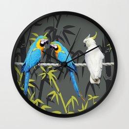 Kakadu - Macbambooaw Bambus Rope Jungle Wall Clock