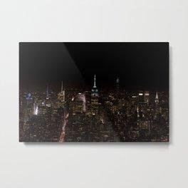 Mid-Town Manhattan Night Metal Print