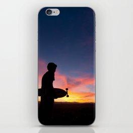 Longboard Silhouette iPhone Skin