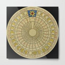 Lunar Chart 1450 Metal Print
