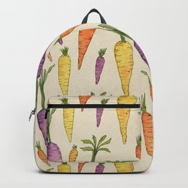 Heirloom Carrots on Cream Backpack