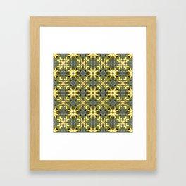 Abstract flower pattern 3c Framed Art Print