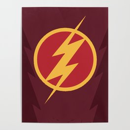 The Flash Logo Poster