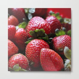 Strawberry allover Metal Print