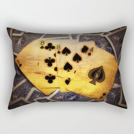 Dead Man's Hand Rectangular Pillow