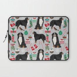 Burnese Mountain Dog christmas holiday festive mitten stockings dog gifts Laptop Sleeve