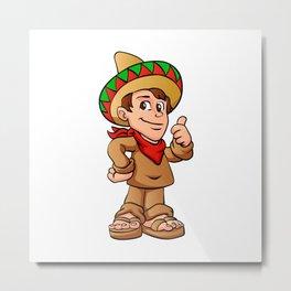 mexican kid cartoon Metal Print