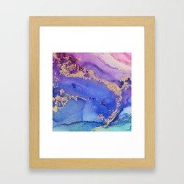 Dancing Mermaid - Abstract Ink - Part 1 Framed Art Print