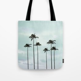 Palm Tree | Landscape Photography | Sunset Clouds | Blue Sky | Minimalism Tote Bag