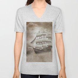 Cloud Ship Unisex V-Neck