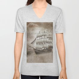 Cloud Ship Unisex V-Neck