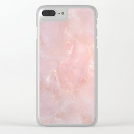 Rose Quartz Clear iPhone Case