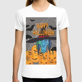 Bats & Witch Happy Halloween T-shirt