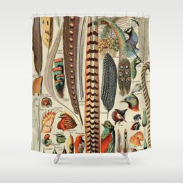 Adolphe Millot- Plumes Shower Curtain