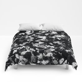 Shades of Gray and Black Oils #1979 Comforters