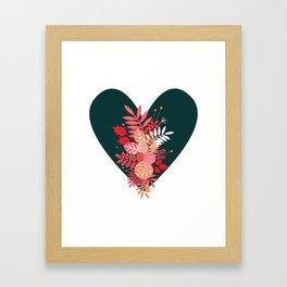 Feelings (Green) Framed Art Print