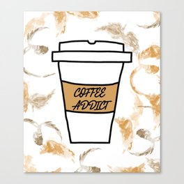 Coffee addict stain Canvas Print