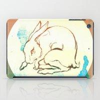 rabbit iPad Cases featuring Rabbit by Danielle Summerfeldt