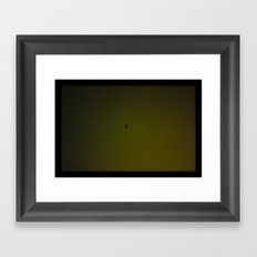 Night Plane Framed Art Print