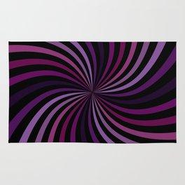 Purple Magenta Hypnotizing Swirl Rug
