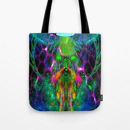 Beamed Down Alien Tote Bag