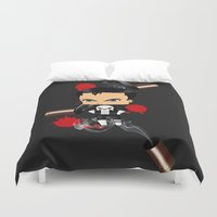 punisher Duvet Covers featuring Chibi Punisher by artwaste