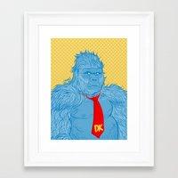 donkey kong Framed Art Prints featuring Donkey Kong by Ismael Álvarez