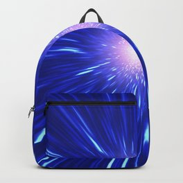 Glowing purple shpere with rays of light Backpack