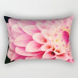 Sweet Pink Dahlia Rectangular Pillow
