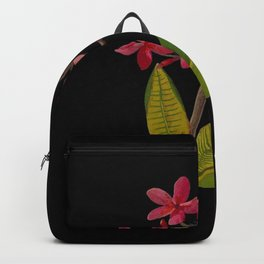 Plumeria Rubra Mary Delany Floral Paper Collage Delicate Vintage Flowers Backpack