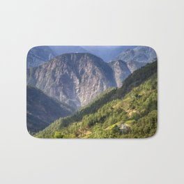 High in the Mountains - Himalayas of Bhutan Bath Mat