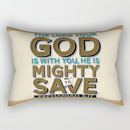 He is Mighty to Save! Rectangular Pillow