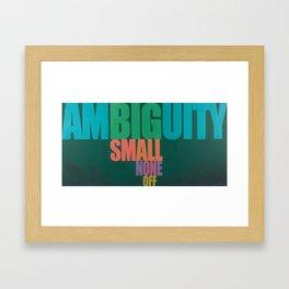 Ambiguity Framed Art Print