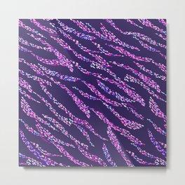 Abstract Zebra NET Metal Print