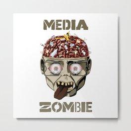 Media Zombie Metal Print