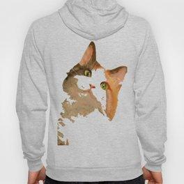 I'm All Ears - Cute Calico Cat Portrait Hoody