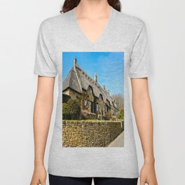 Cotswold Cottages  Unisex V-Neck