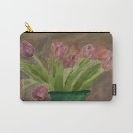 April Tulips Carry-All Pouch