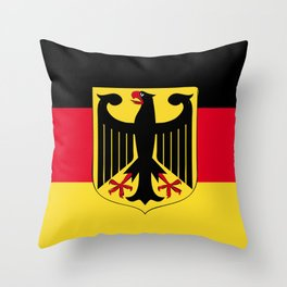 Germany flag emblem Throw Pillow