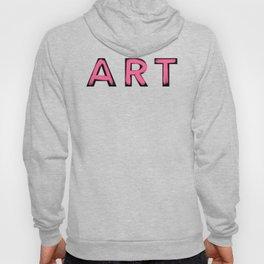 Minimalist Art Pink Brush Strokes Hoody