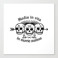 Media in vita in morte sumus Canvas Print